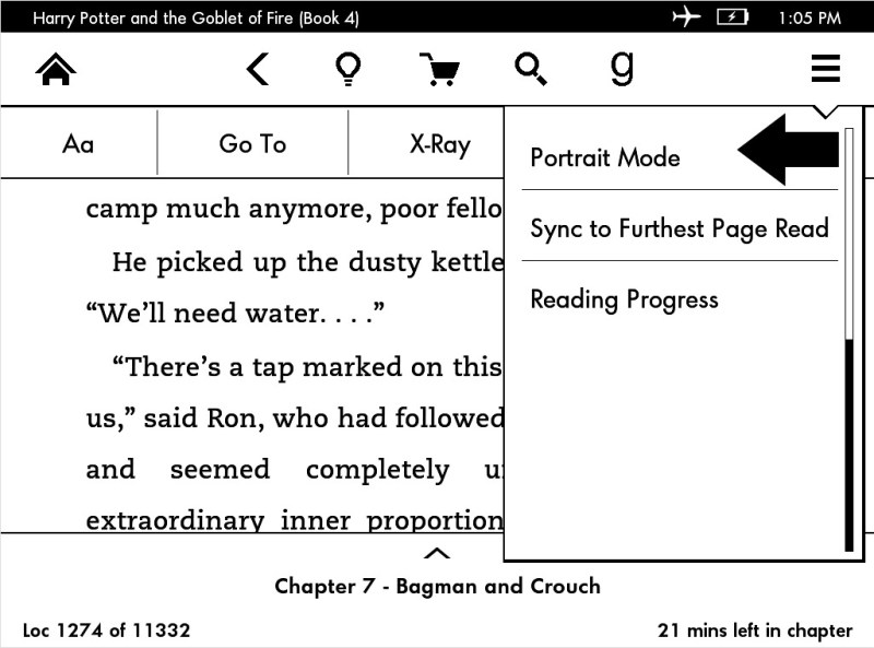 How to read ebooks in Landscape Mode on your Kindle