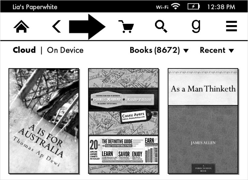 How to download the Kindle First title on your Kindle Paperwhite - go to kindle store