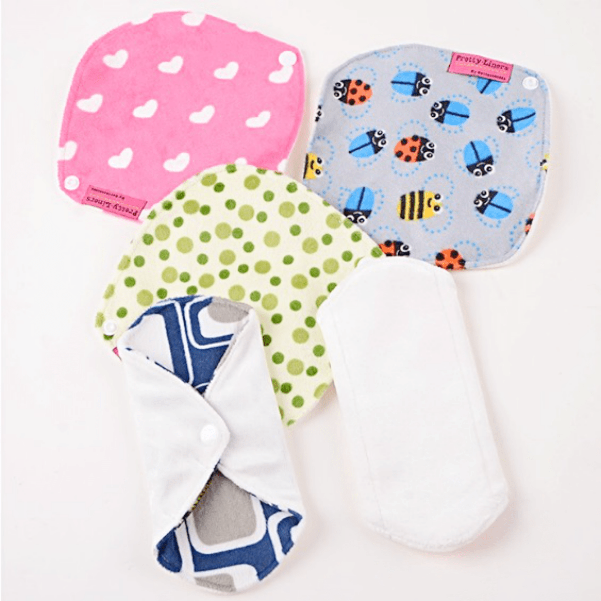 Washable Bamboo Fiber Panty Liners with Single Snap