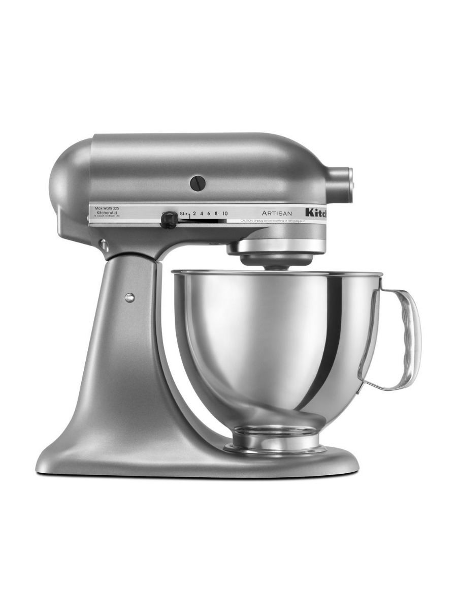 KitchenAid KSM150PSCU Artisan Series 5 Qt. Stand Mixer With Pouring Shield    Contour Silver