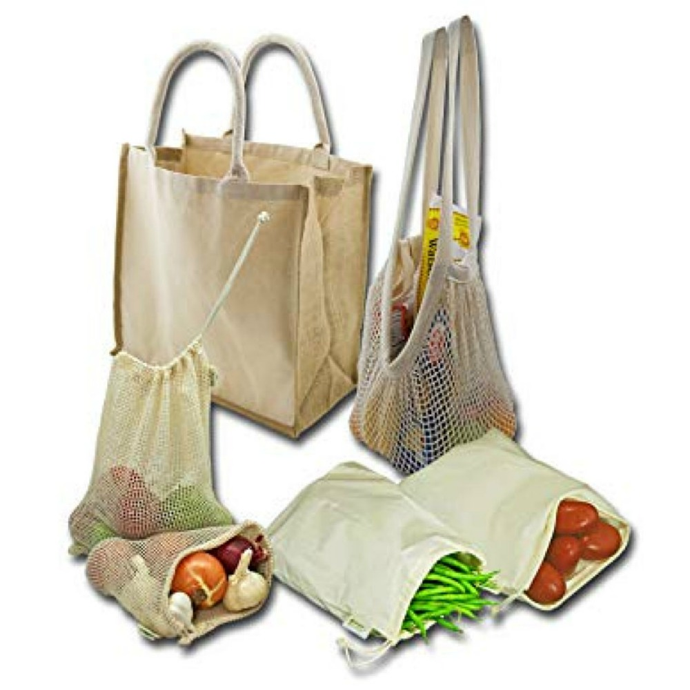 Simple Ecology Organic Reusable Grocery Shopping Bag Set Lia Belle