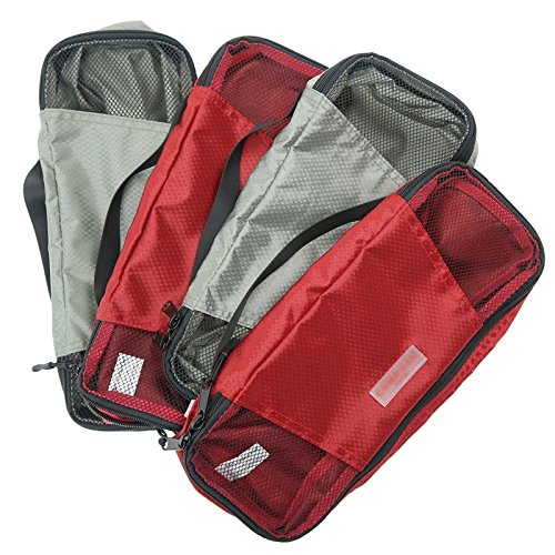 Compass Rose Travel Packing Cubes with Number and Color Coded Organization System