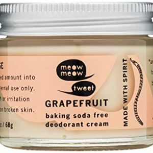 Meow Meow Tweet, Baking Soda Free Grapefruit Deodorant Cream, 2.4 oz