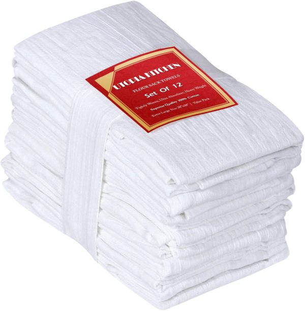 Utopia Kitchen Flour Sack Dish Towels - Pack of 12