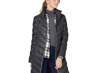 Calvin Klein Women's Chevron Quilted Packable Down Jacket