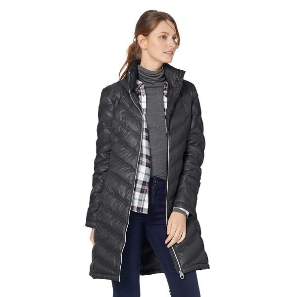 Calvin Klein Women's Chevron Quilted Packable Down Jacket