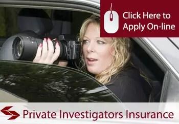 private investigators public liability insurance