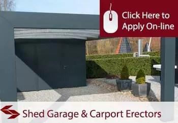domestic shed garage and carport erectors liability insurance