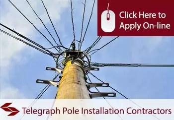 telegraph pole installation contractors public liability insurance