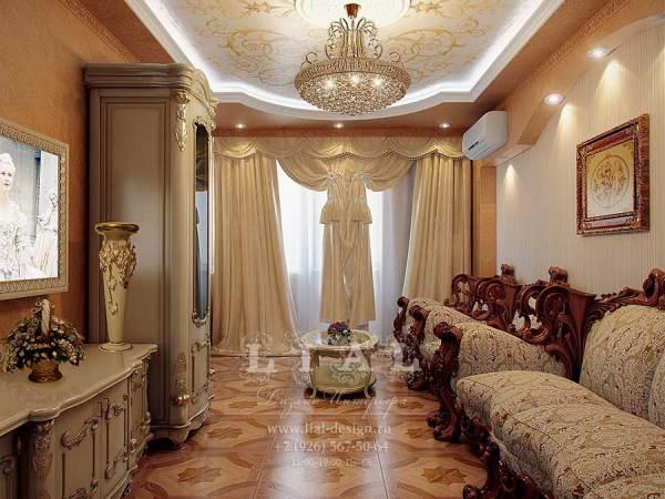 Дизайн-проект гостиной в современном стиле   Частный ...