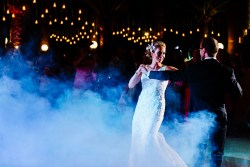 Bride and groom dance at their wedding