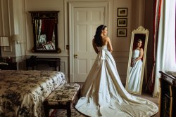 a bride at kensington palace wedding