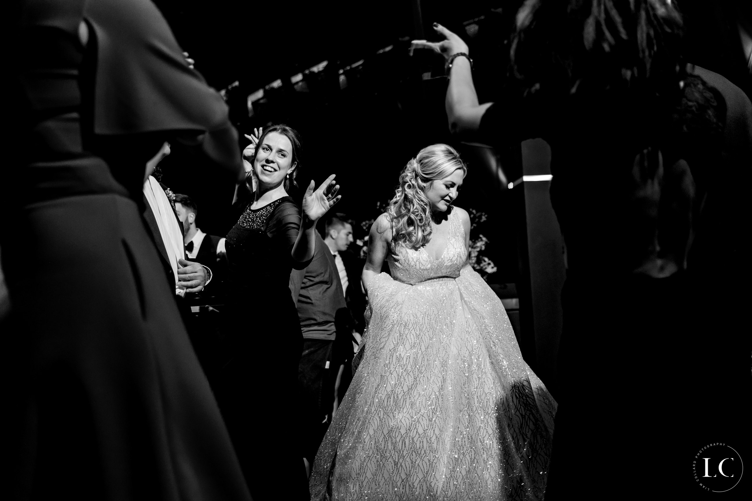 Dancing after wedding