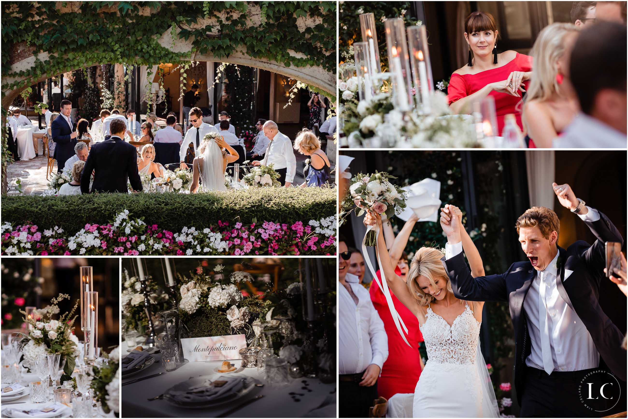 Collage of wedding