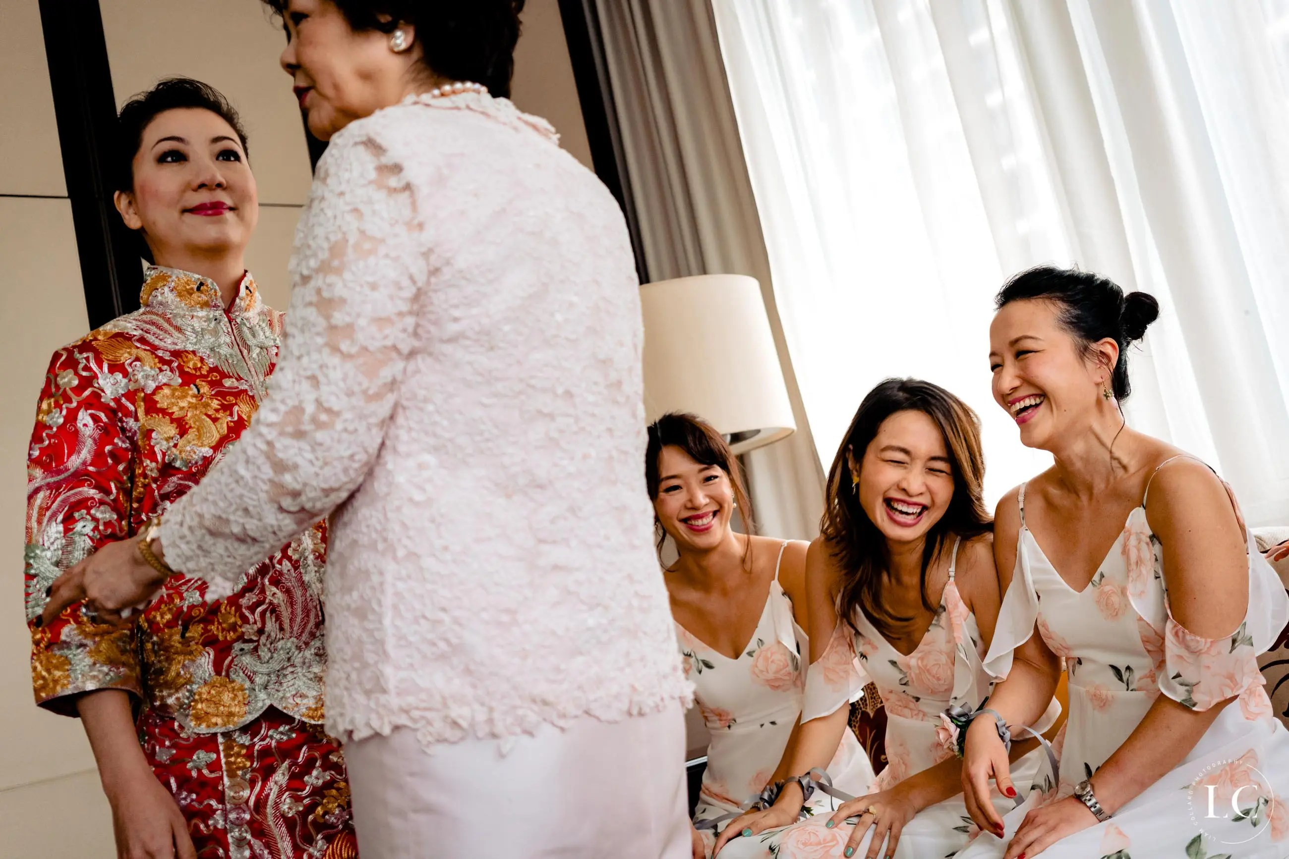 Mother of the bride and bridesmaids
