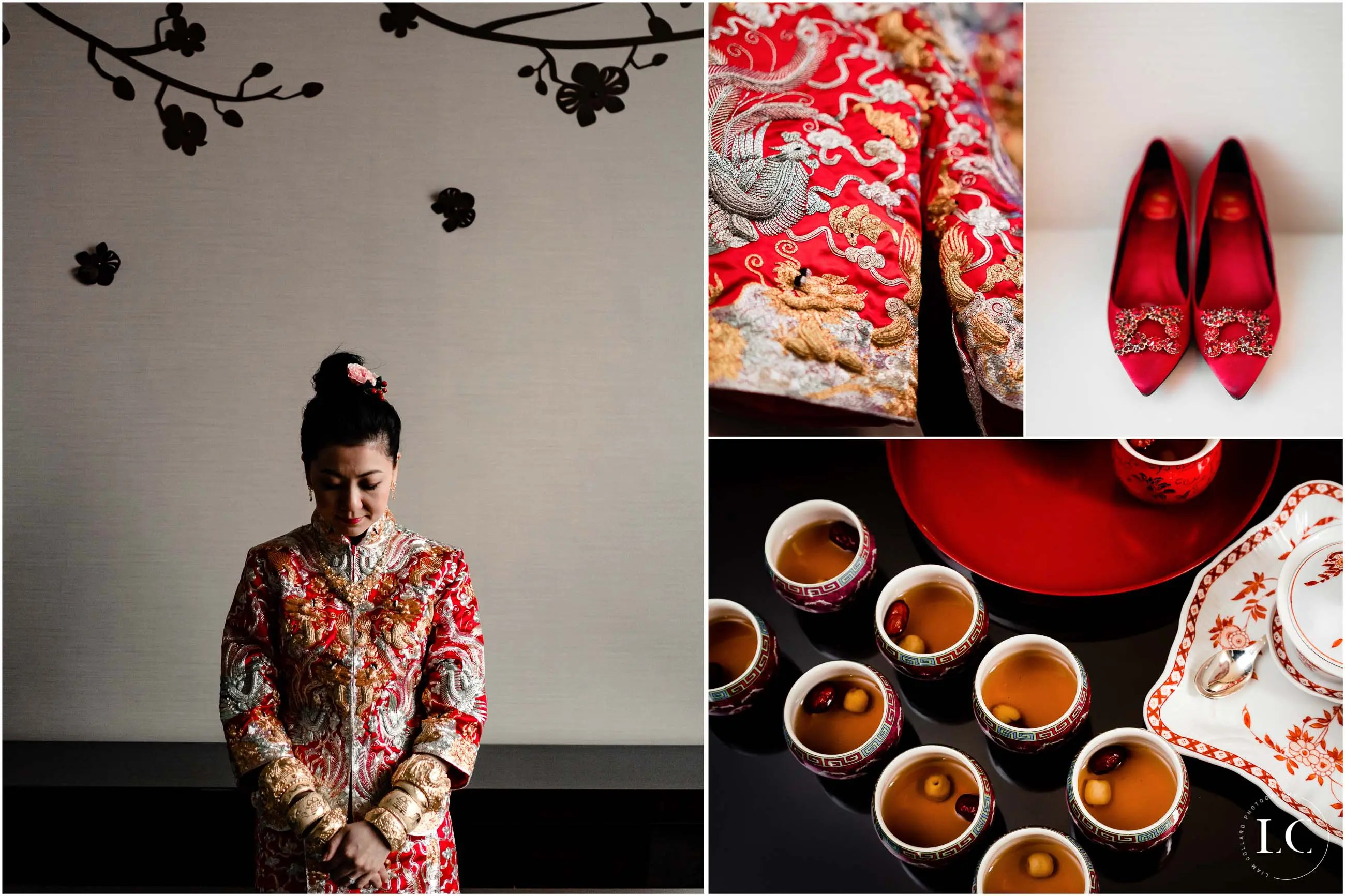 Collage of Hong Kong wedding