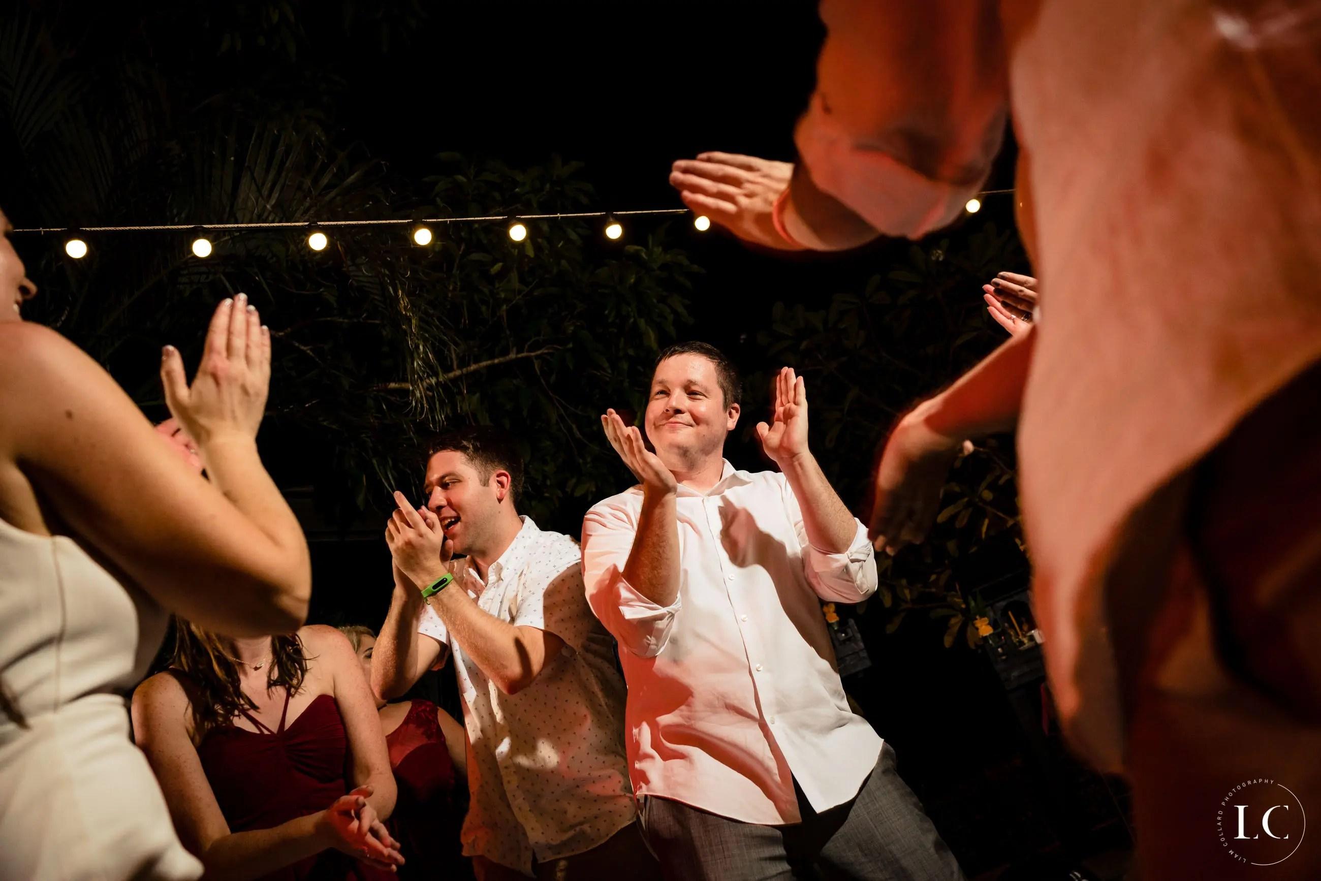 dancing at a wedding