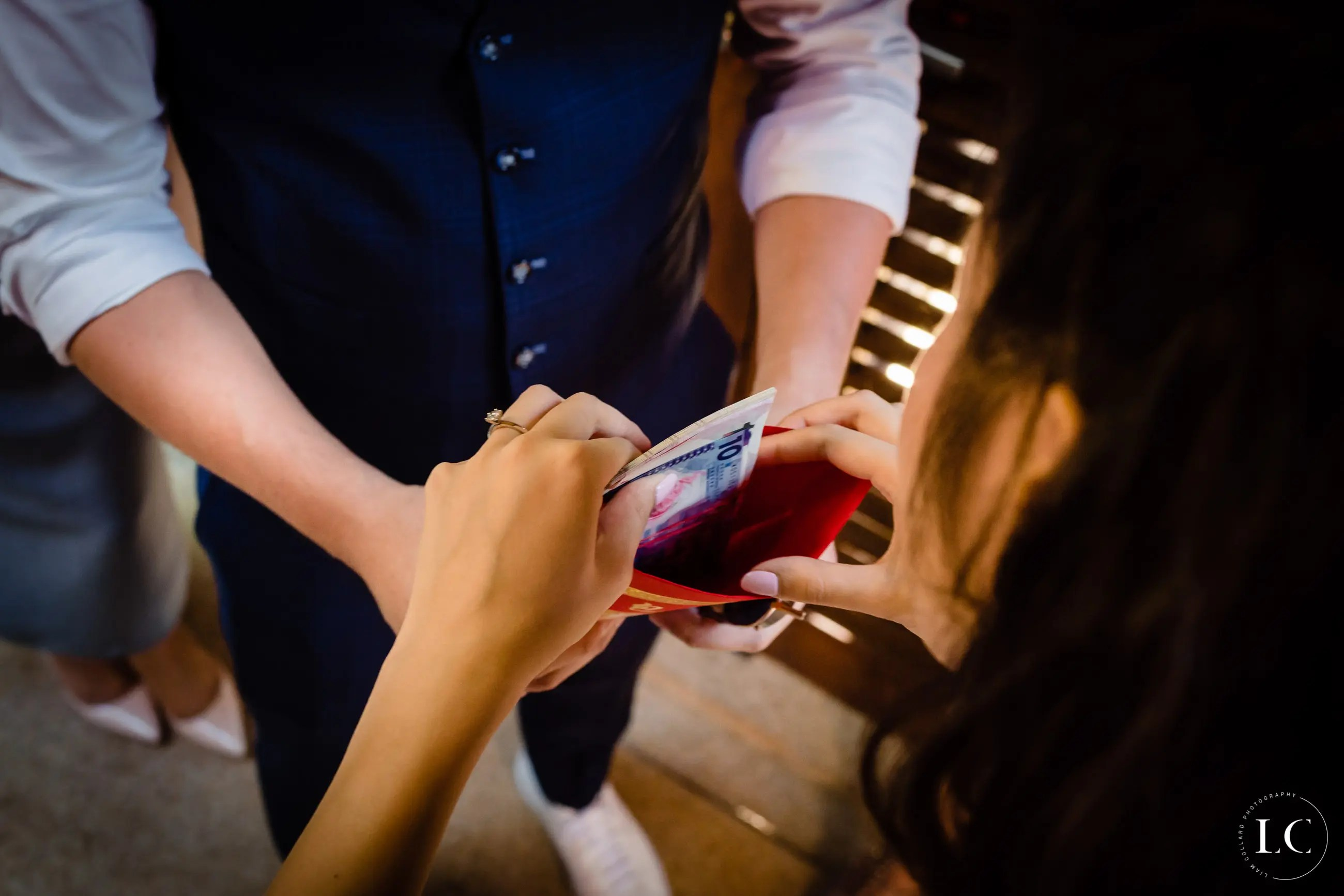 Wedding focused on hands