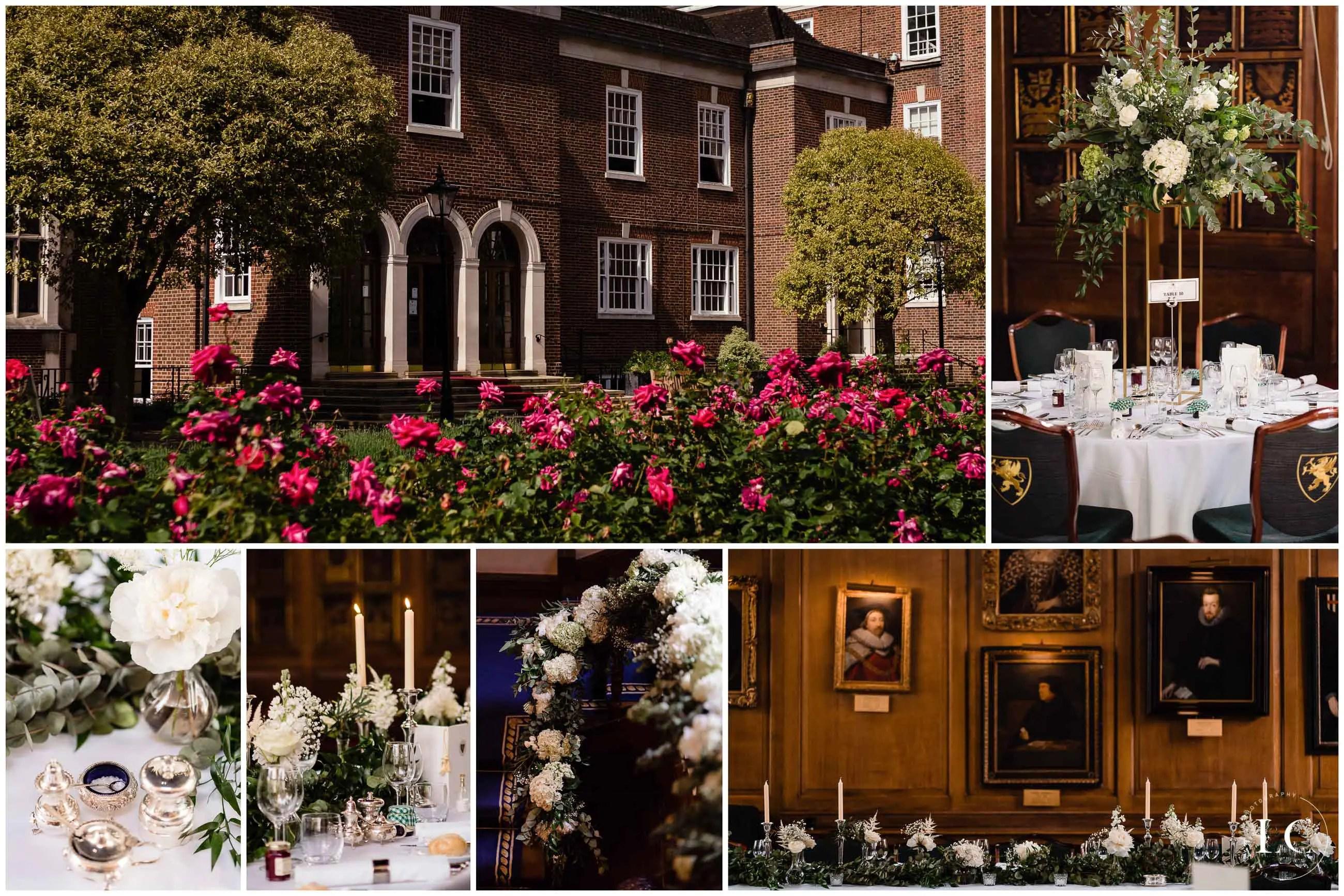 Collage of wedding venue