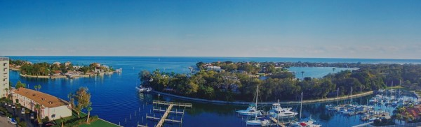 Panoramic shot of the Water Club Snell Isle's view