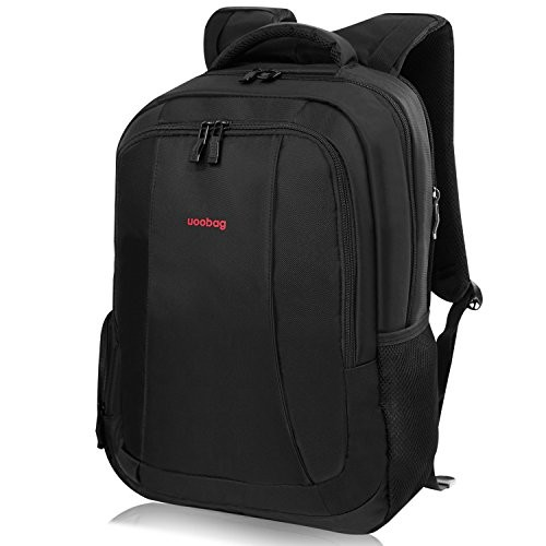 Laptop Backpack uoobag Water Resistant Business College School Backpack Up to 15.6 Inch Computer Notebook Black