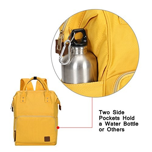bf4c92213764 Veegul Wide Open Multipurpose School Backpack Lightweight Travel Bag 18L  Calendula Yellow