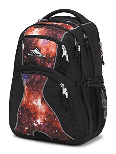 High Sierra Swerve Laptop Backpack, Black/Space Age