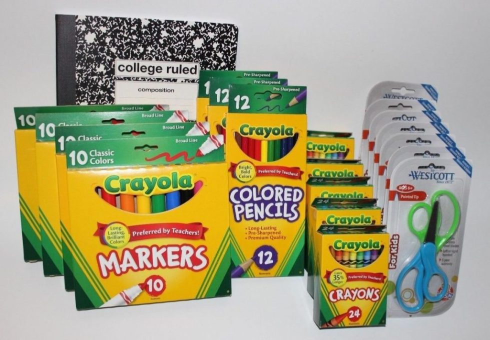 Back to School Supplies 20 lot Markers Crayons Colored Pencils Scissors Teacher