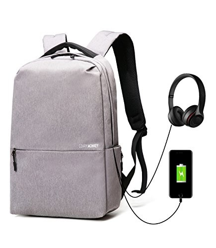 f434a934fa5e Panda Kelly Water Resistant Laptop Backpack Anti Theft Travel Business  Computer Bag with USB Charging Port and Earphone Port College School  Backpack ...
