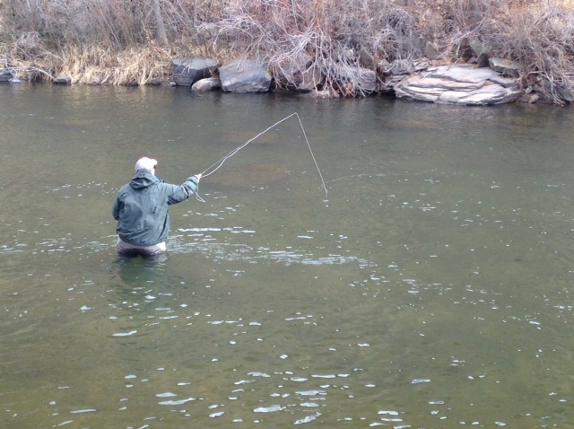 How to mend line while fly fishing.