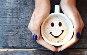 coffee and happy