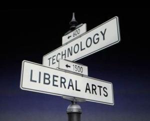 Crossroads image between liberal arts and technology