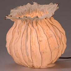 Helen Hiebert experimental paper lamp structure