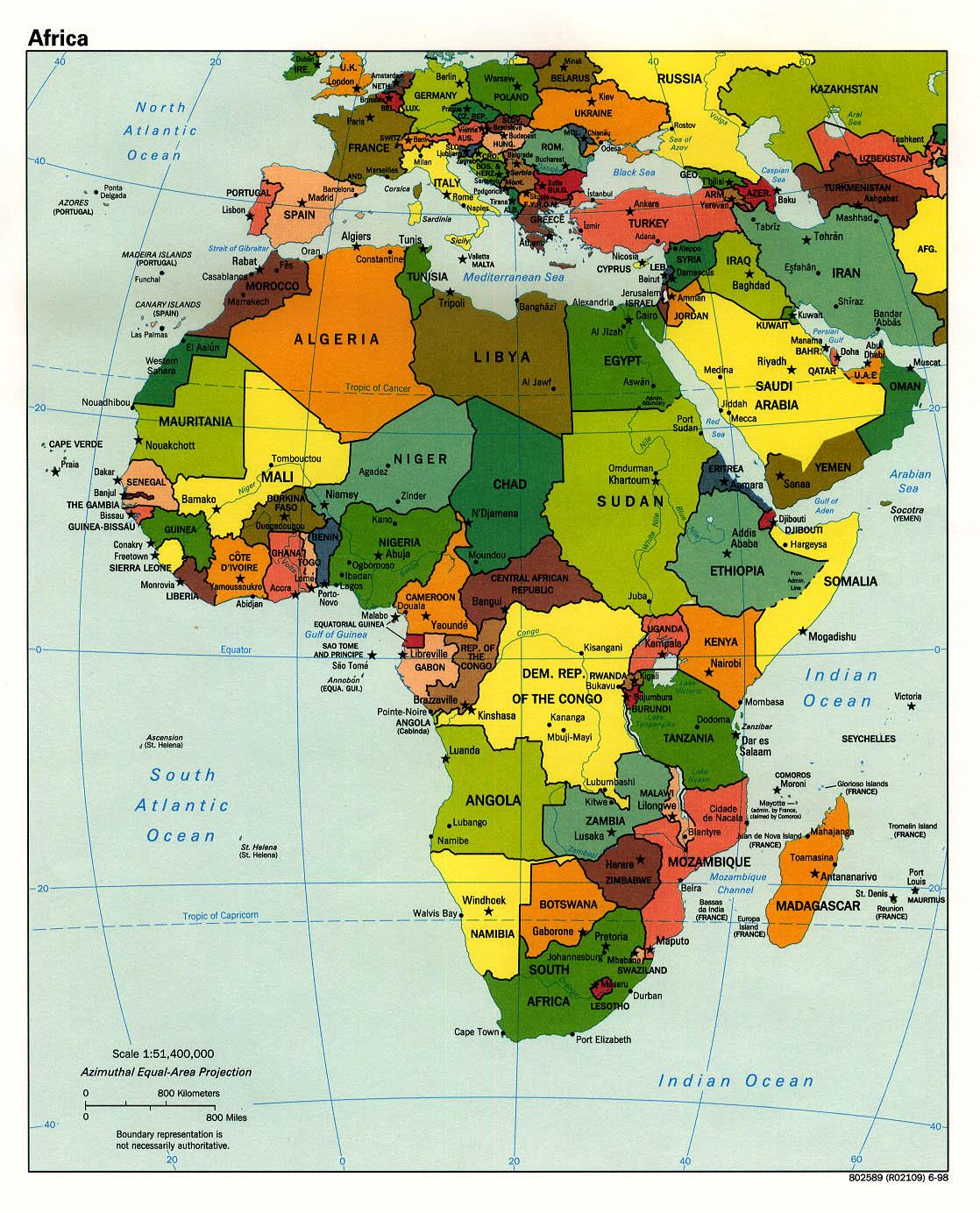 África (http://www.lib.utexas.edu)
