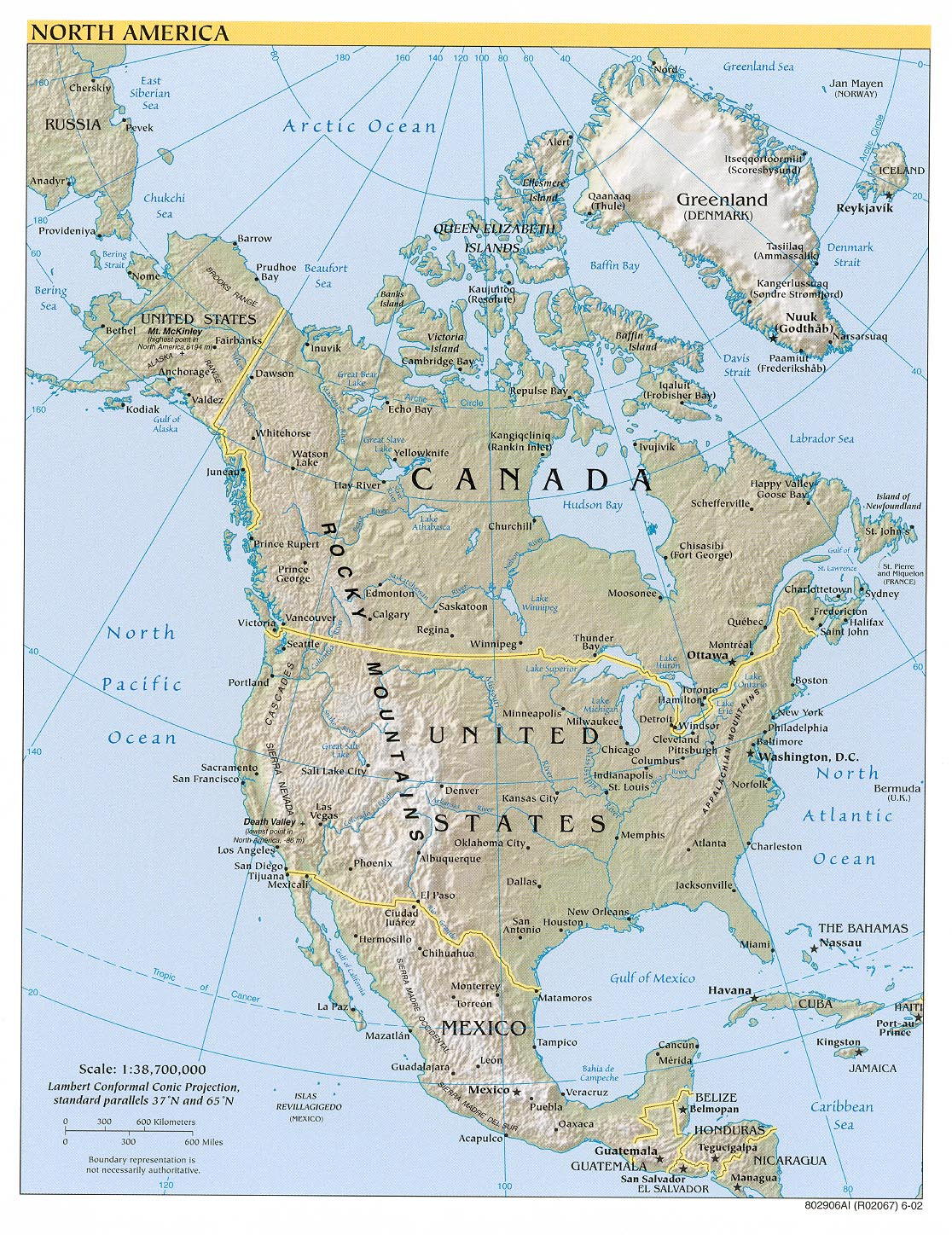 Map Of North America A Source For All Kinds Of Maps Of