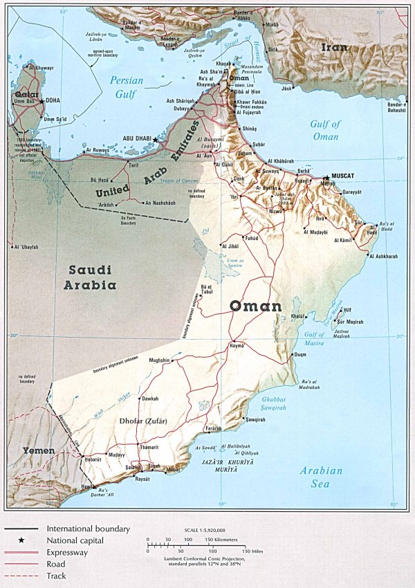 wear is Oman in the map? | Yahoo Answers