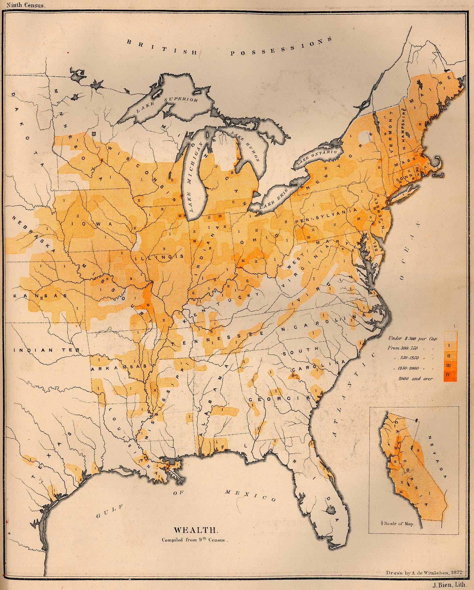 Maps Public Domain Images Online - Us wealth distribution map
