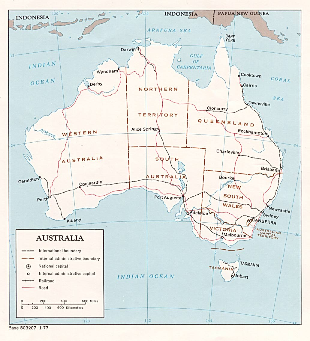 Australia And The Pacific Maps