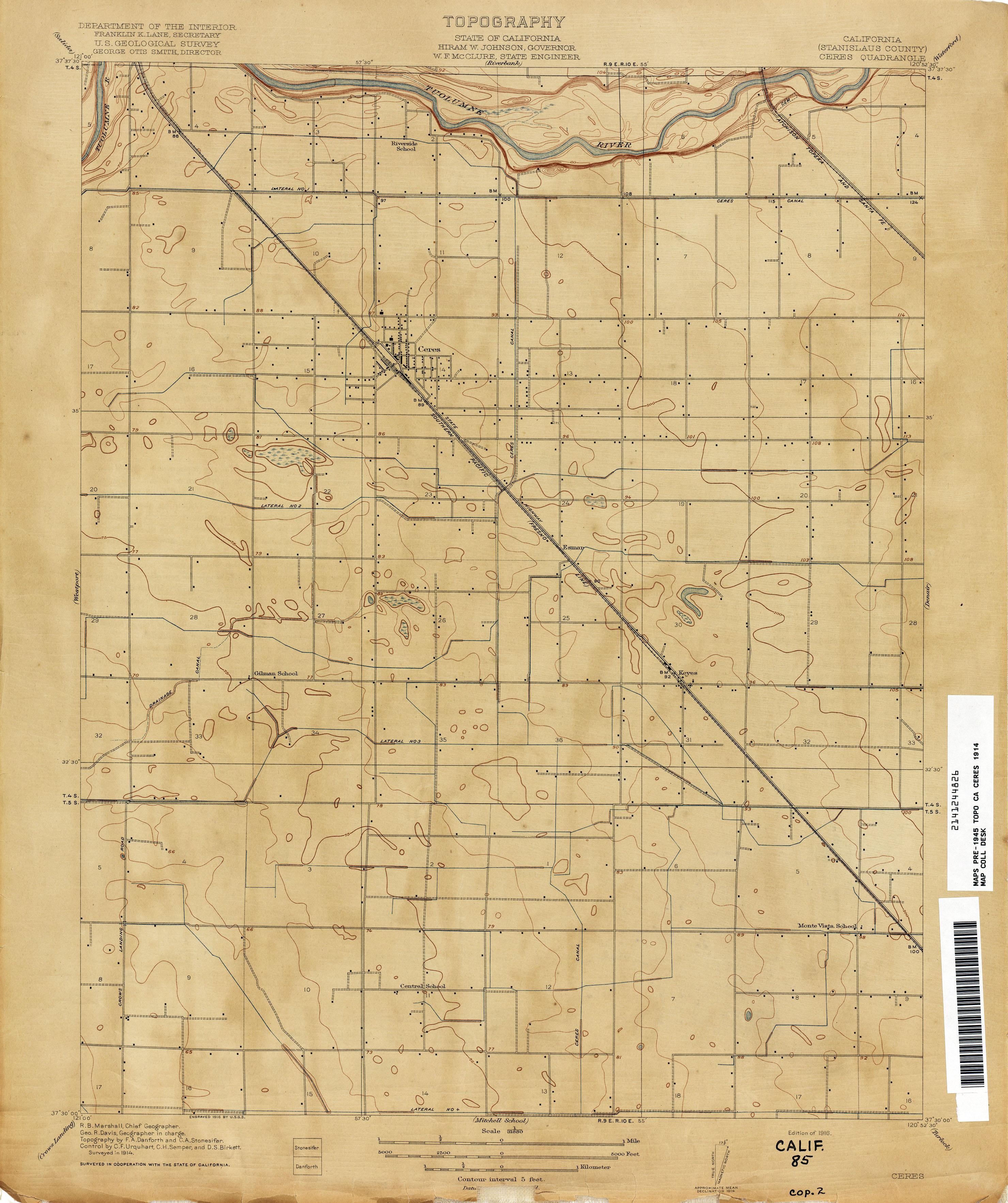 California Topographic Maps