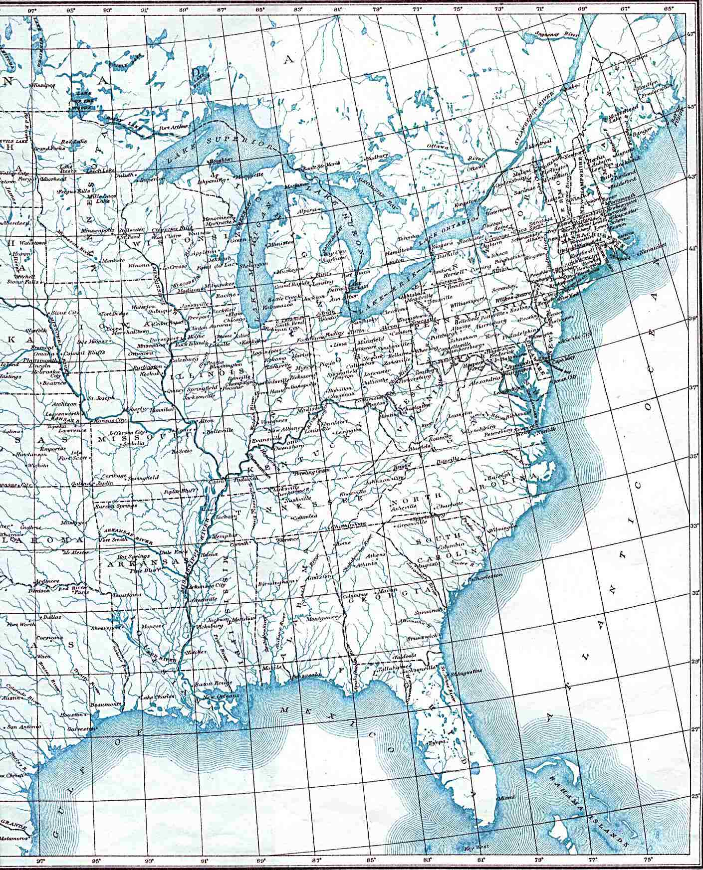 Whether it be data quality or user experience, they all still get it wrong too often to be acceptable, and t. Maps Us Map With Longitude And Latitude