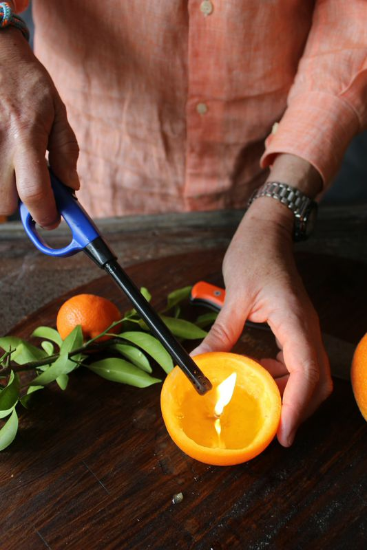 Making an orange candle from libbiesummers.com