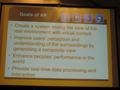 Goals of AR