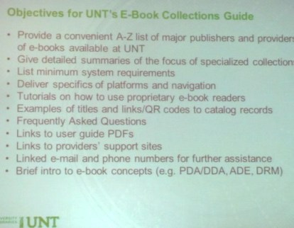 LibGuide objectives