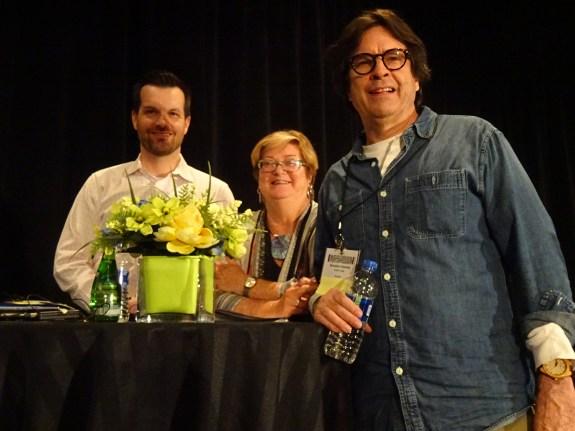Daniel Lee and Brendan Howley with Jane Dysart