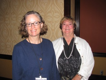 Indi Young (L) with Jane Dysart, IL Program Chair