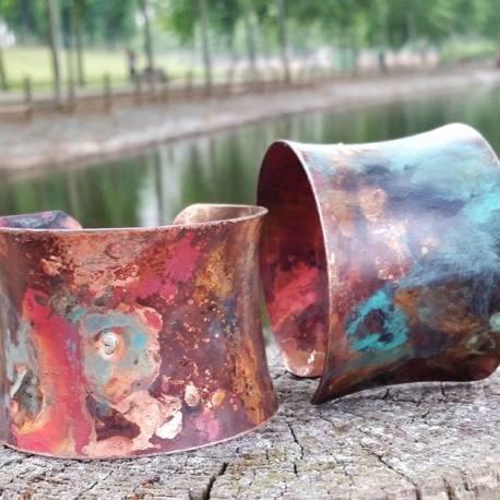 brazaletes cobre