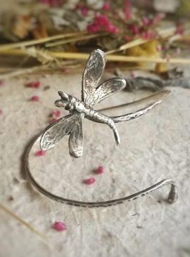 pulsera libélula de plata
