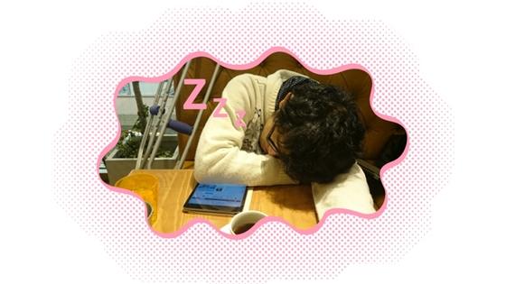 眠いっすよぉ...