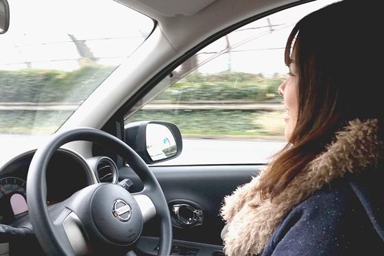 平尾ちゃんの安全運転!