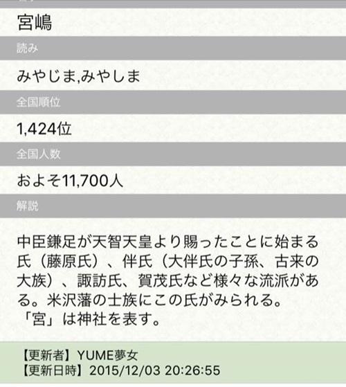 "代表取締役の宮嶋の診断結果"""